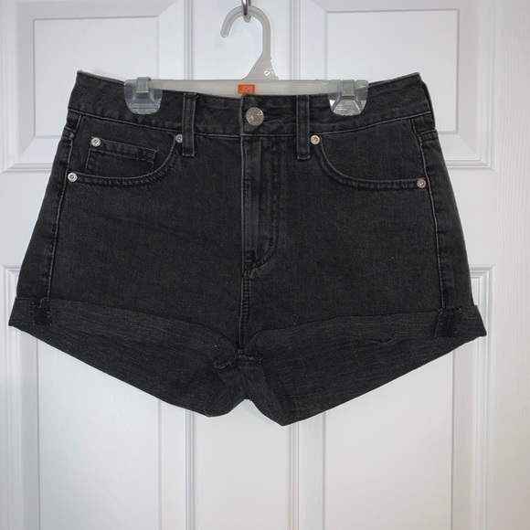 Garage Black Denim Shorts